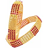 YouBella Gold Plated Bangles Jewellery For Girls/Women
