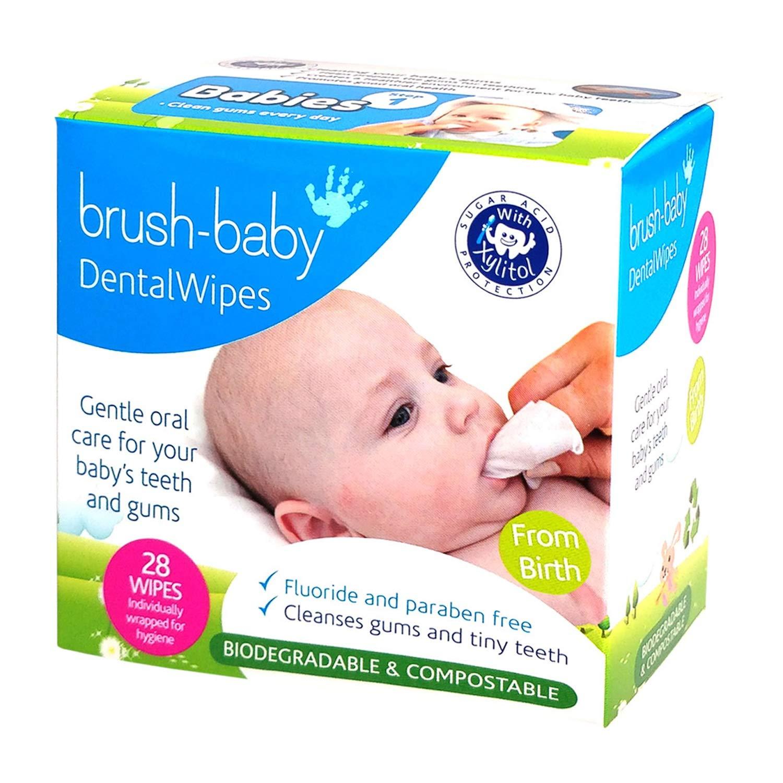 Brushbaby шүд ам цэвэрлэгч салфетка 28ш 0+ сар
