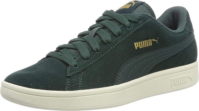 Puma Smash V2 Sneakers Unisex Damen Herren Grün Ponderosa