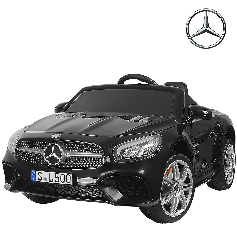 Uenjoy 12V Licensed Mercedes-Benz SL500 Kids Ride On Car Electric Cars  Motorized Vehicles for Kids, Remote Control, Music, Horn, Spring  Suspension,