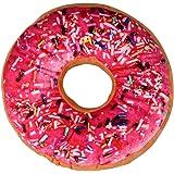 Doughnut Cushion, Rcool Creative Soft Ring Shaped Pillow Home Decoration (Hot Pink)