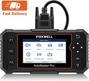 FOXWELL NT614 Elite Car OBD2 Scanner Parking Brake/Transmission/ABS/Airbag/Check Engine Diagnostic Tool with EPB/Service Due Reset for BMW, Dodge, Chevy, Ford, Mercedes, All Cars(Free Case Includes)