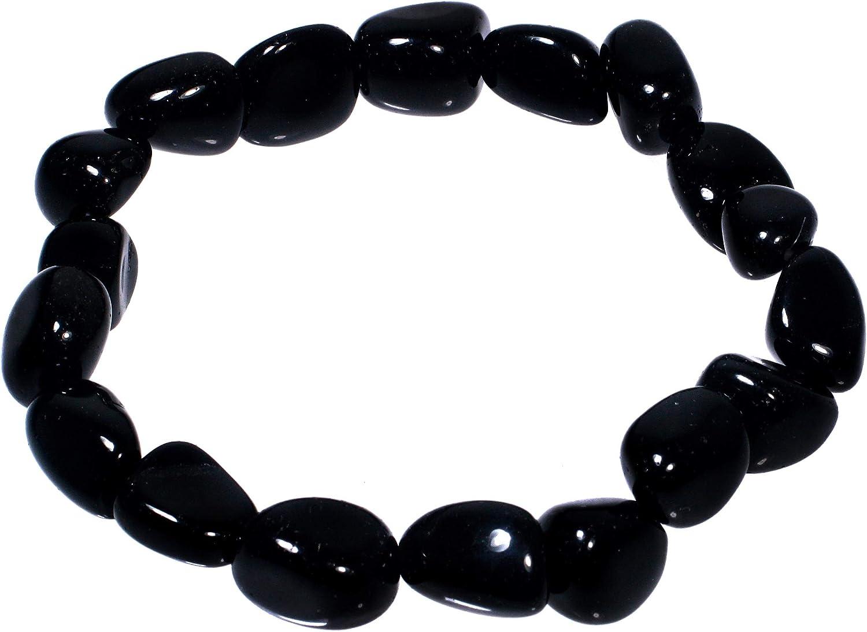 Pulsera de piedra obsidiana nevada, signo Capricornio