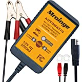 Mroinge 12V 2A Lead Acid & Lithium(LiFePO4) Automatic Trickle Battery Charger Smart Battery Maintainer for Car…