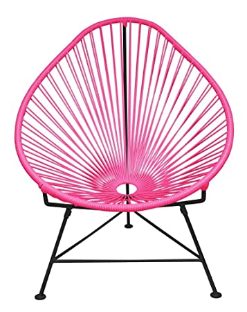 Pink Garden Furniture Amazon innit designs acapulco chair pink weave on black frame innit designs acapulco chair pink weave on black frame workwithnaturefo