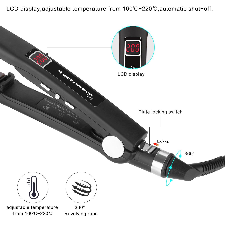 REMINGTON S6500 Haarglätter Lockenstyling Glätteisen LCD-Display Keramik NEU