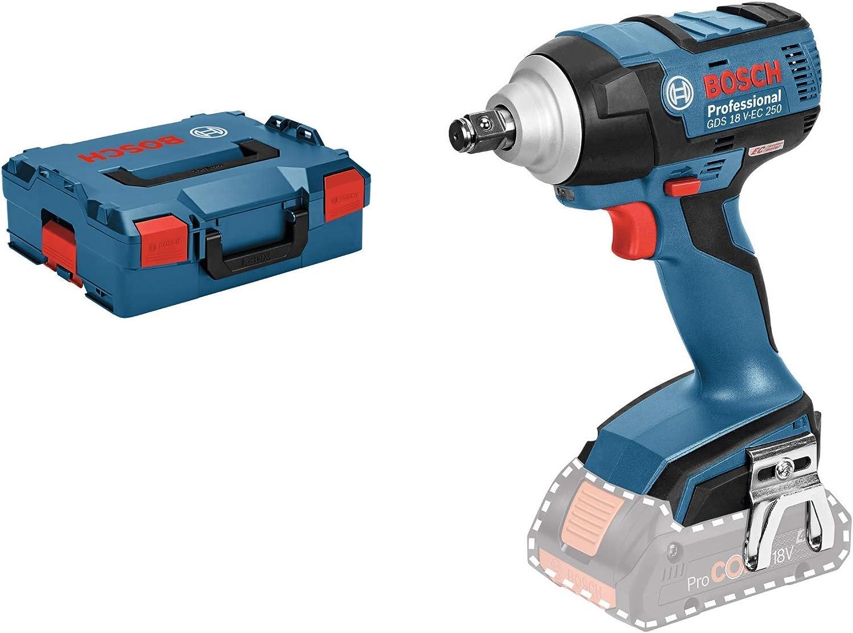 Bosch Professional GDS 18 V-EC Atornillador de impacto, 250 Nm, tornillos hasta M18, sin batería, en L-BOXX