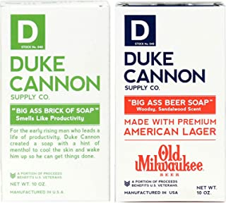 product image for Duke Cannon Supply Co. - Big Ass Brick of Soap Variety Gift Set (2 Pack of 10 oz) Superior Grade Bar Soap - Big Ass Beer Soap made Old Mlwaukee and Smells Like Productivity Scents
