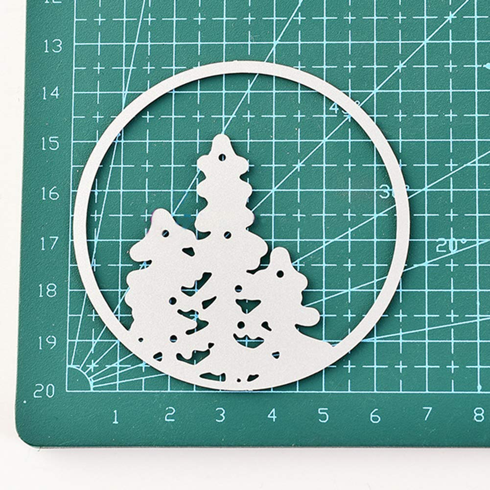 Profusion Circle Metal Christmas Tree Star Cutting Dies Stencils For