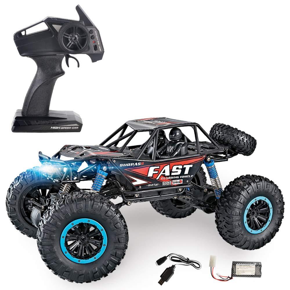 SLONG Remote Hochgeschwindigkeits-Geländewagen Kletterwagen Spielzeug Big car 1:10 Allradantrieb wasserdichter Ladungsfernbedienung Modell