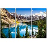 Colorado Wall Art 3 Pieces Snow Mountain and Lake National Park Landscape Modern Artwork Painting Print On Canvas Framed…
