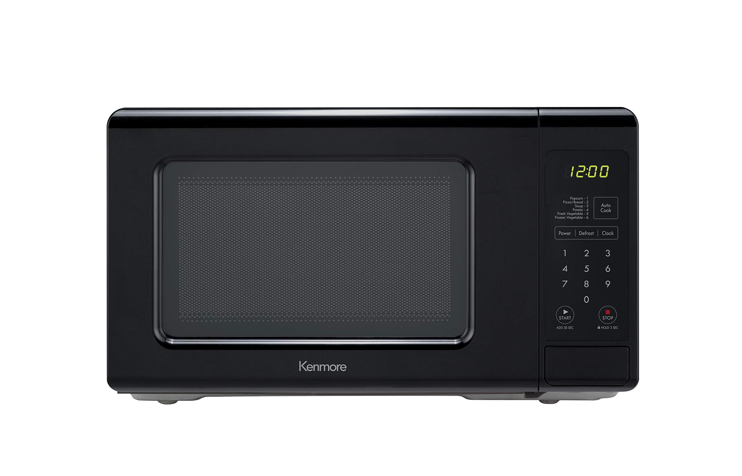 Kenmore 70729 0.7 cu. ft Compact 700 Watts 10 Power Settings, 6 Heating Presets, Removable Turntable, ADA Compliant Small Countertop Microwave, cu.ft, Black by Kenmore