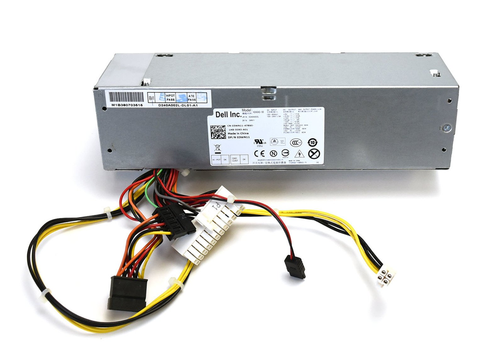 Original Equipment Manufacturer 2TXYM 240W Dell Optiplex SFF L240AS-00 PS-5241-5DF 240 Watt Power Source P/S 100-240V PSU Authentic Genuine OEM Power Supply Unit