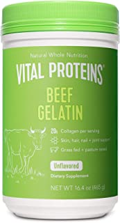 product image for Vital Proteins Beef Gelatin : Pasture-Raised, Grass-Fed, Non-GMO (16.4 oz) - Gluten free, Dairy free, Sugar free, Whole30 Approved, and Paleo friendly