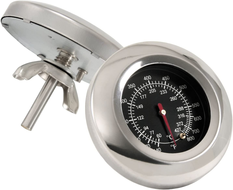 Edelstahl Grillthermometer Grill Einbau Thermometer Analog Bimetall Haube Deckel