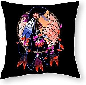 Suklly Pocahontas Colours of The Wind Pillowcase, Hidden Zipper Pillowcase, Home Sofa Decoration 18x18 inch Double-Sided Design Printed Pillowcase
