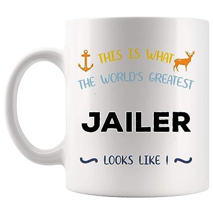 Amazon com: World's Greatest Looks Like Jailer Mug Best