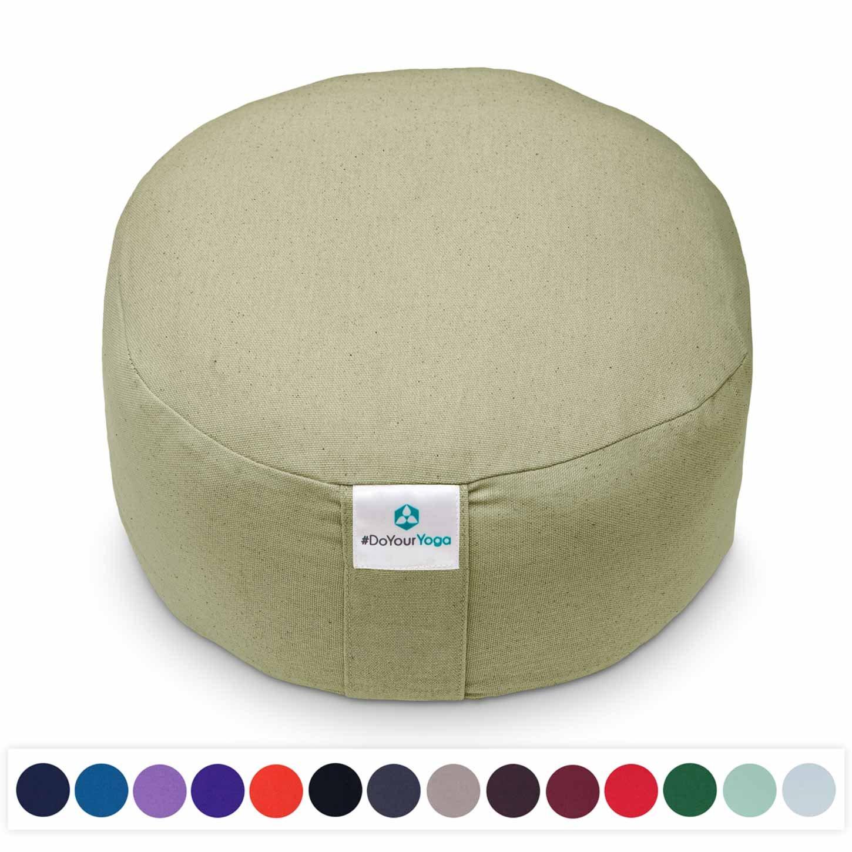 #DoYourYoga® Klassisches Yogakissen | Meditationskissen - 100% Baumwolle, Maße ca. 29 cm x 15m - waschbarer Bezug | praktisc #DoYourSports