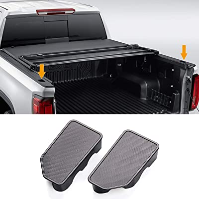 Moonlinks Bed Rail Stake Pocket Cover for 2014-2020 GMC Sierra 1500 and Chevrolet Silverado 1500/2500/2500HD/3500(Set of 2): Automotive