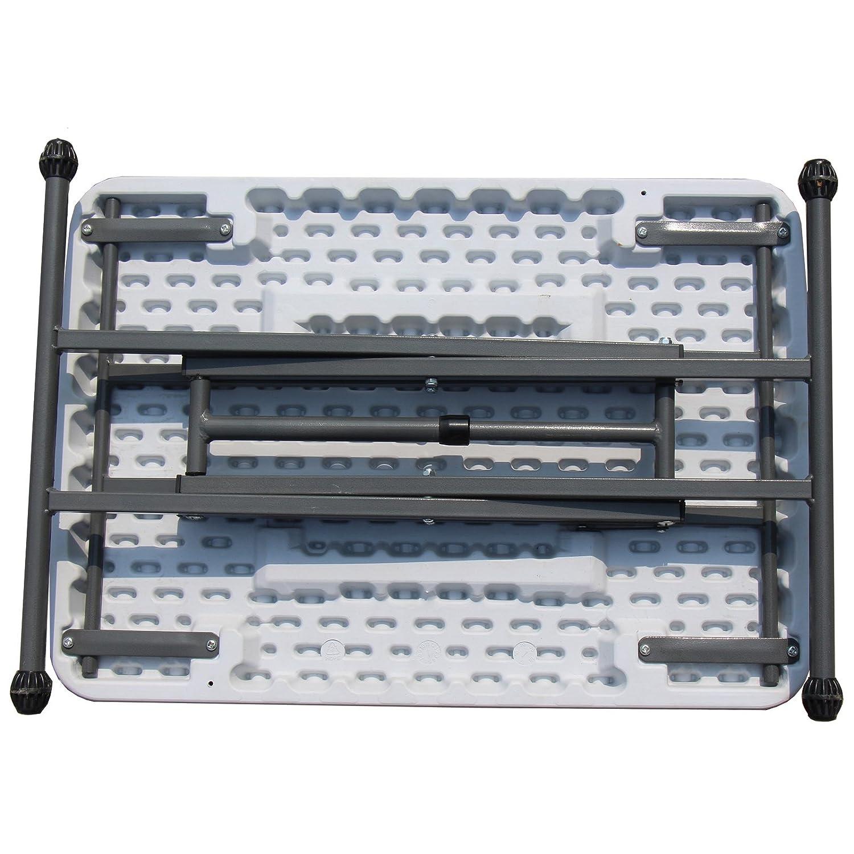 #0107 Robuster Klapptisch mit beschichtetem Stahlrahmen 4-Fach h/öhenverstellbar • Campingtisch Gartentisch Koffertisch Falttisch Zelt Tisch Balkontisch