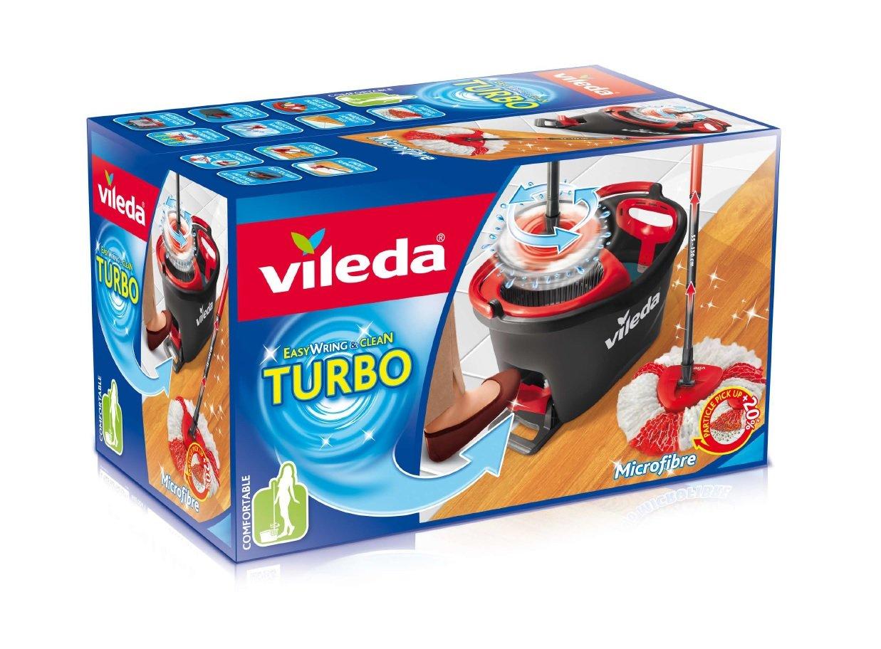 Juego de fregona, color negro y rojo - Vileda Easy Wring & Clean Turbo por solo 26,99€