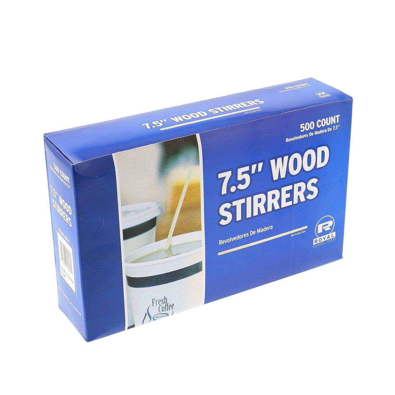 Royal R825 7.5'' Wood Coffee Beverage Stirrers, Package of 500, 1 Box by Royal (Image #4)