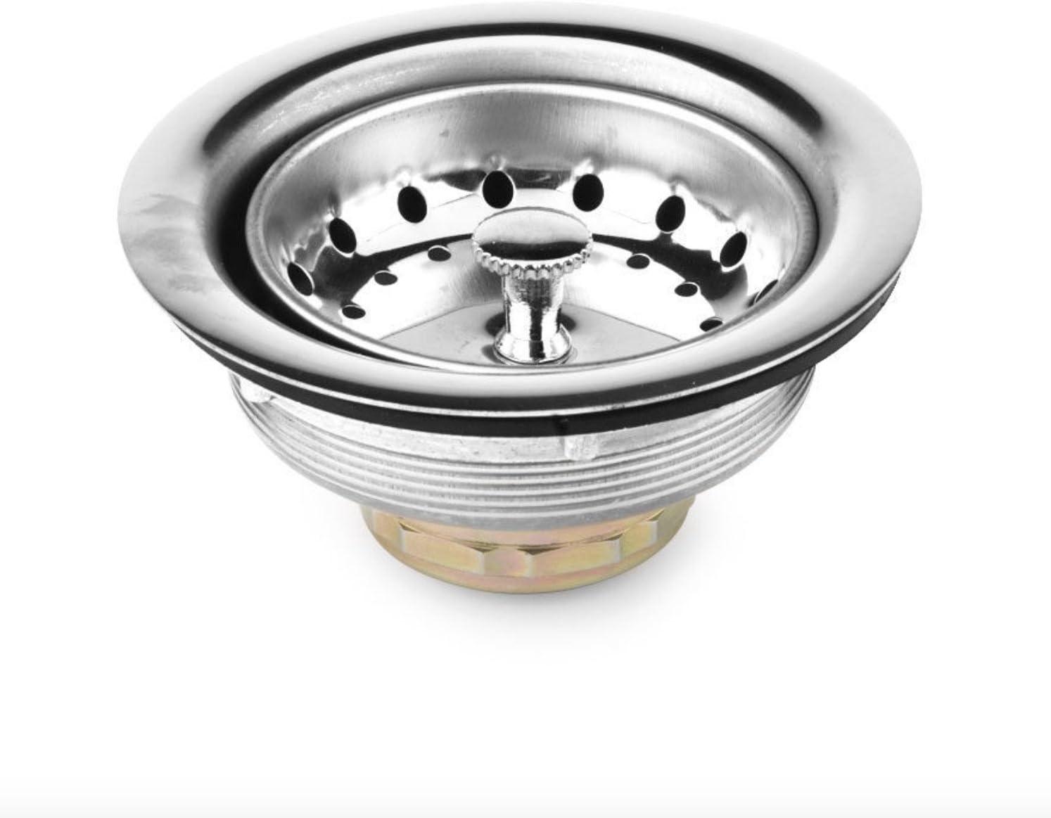 Lavabo de ba/ño ba/ñera cocina tapones para fregadero alimentos suciedad Grime filtros Juego de 3 coladores de fregadero de acero inoxidable varios tama/ños