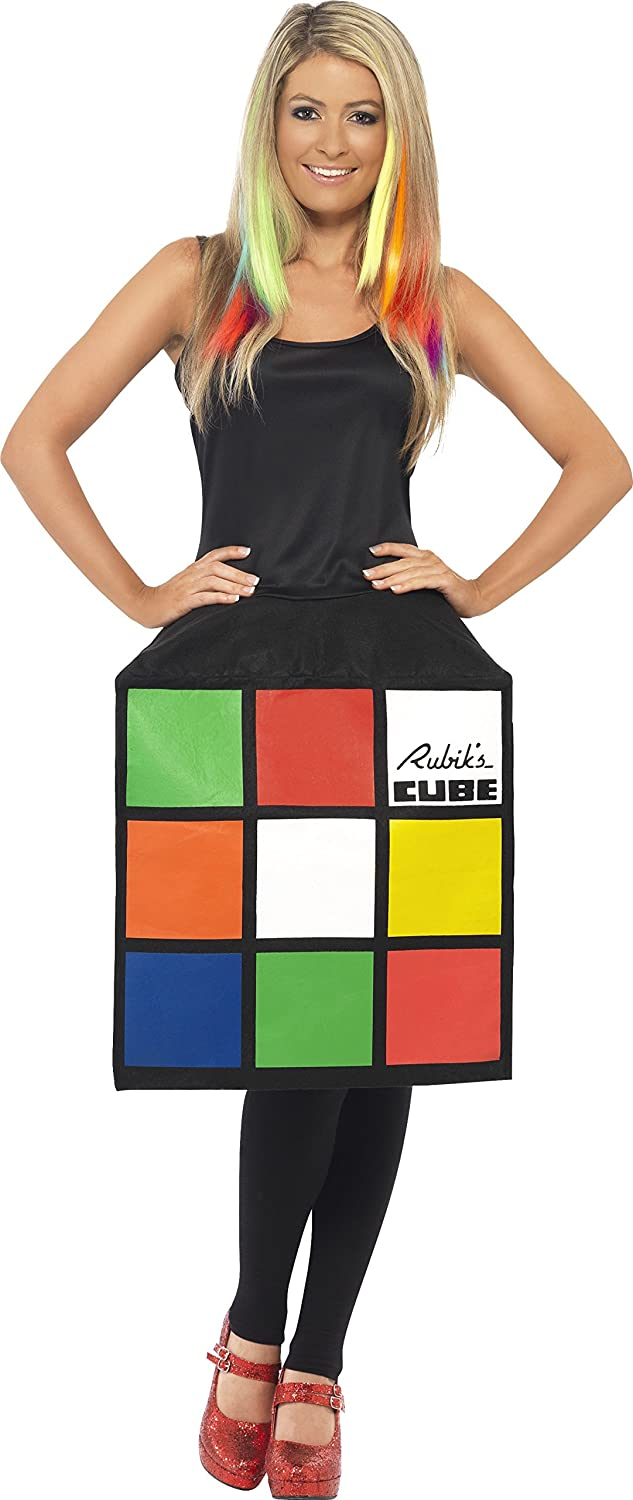 Smiffy's Rubik's Cube Costume with 3D Cube Dress - Small, Medium or Large