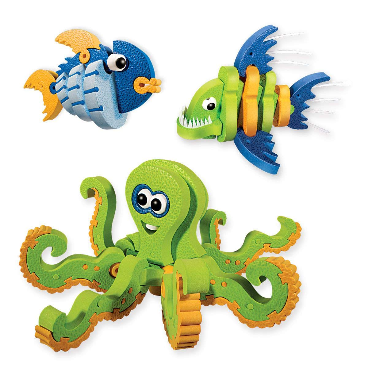Seaworld Toys Kids Crafts for Boys Style Me Up Bloco SMU-30241 PURE /& CO LTD Foam Shark Building Toy Marine Creatures Toy Set