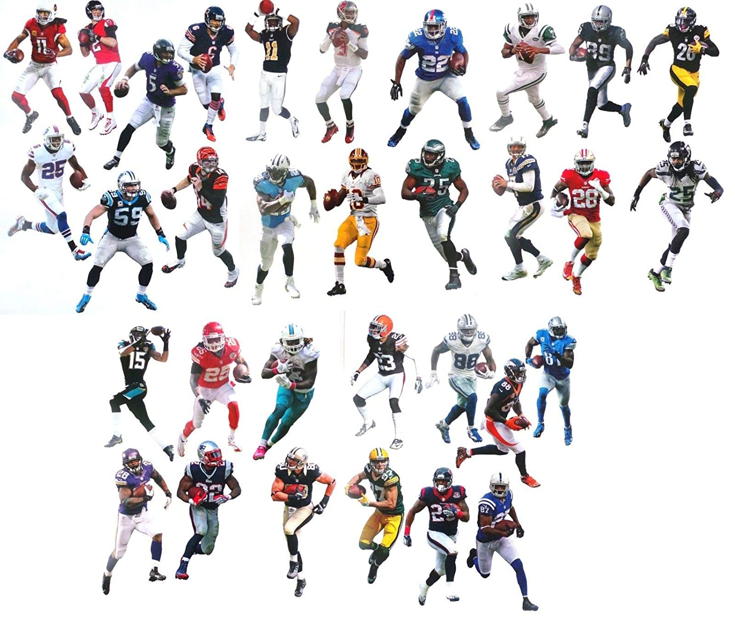 42e9c2bb FATHEAD Complete Set 32 NFL Teams Mini Official NFL Vinyl Wall Graphics - 7