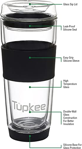 Tupkee Double Wall Glass Tumbler