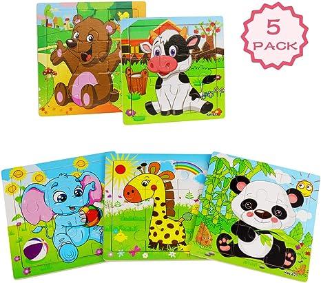 Amazon.com: Rompecabezas de madera para niños de 2 a 5 años ...