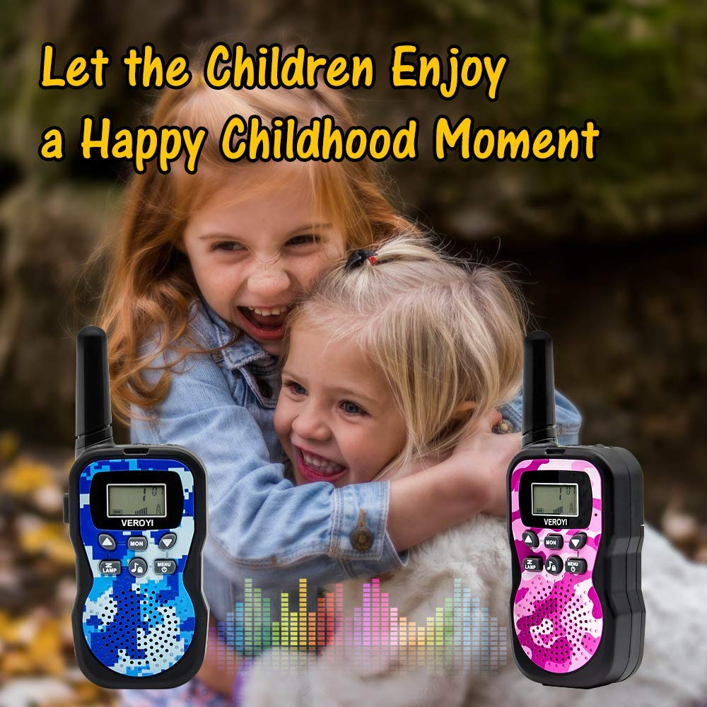 Pussan Fun Toys for 5-10 Year Old Girls Kids Walkie Talkies, 2 Miles Long Distance Walkie Talkies, Outdoor Games, Camping Gear Birthday Gift for Boys and Adlut by Pussan (Image #3)