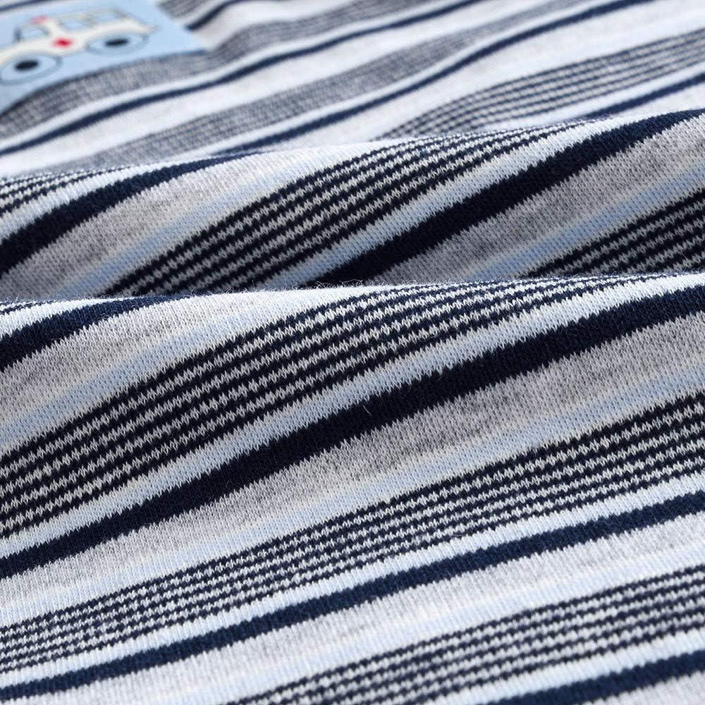 Baby Boys Girls Romper Jumpsuit,Kaicran Long Sleeve Autumn Stripes Bodysuit Clothing Set