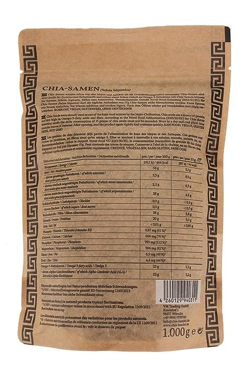 Semillas de Chia 1 kg ⭐ Alta en proteínas ⭐ Apto para Veganos ...