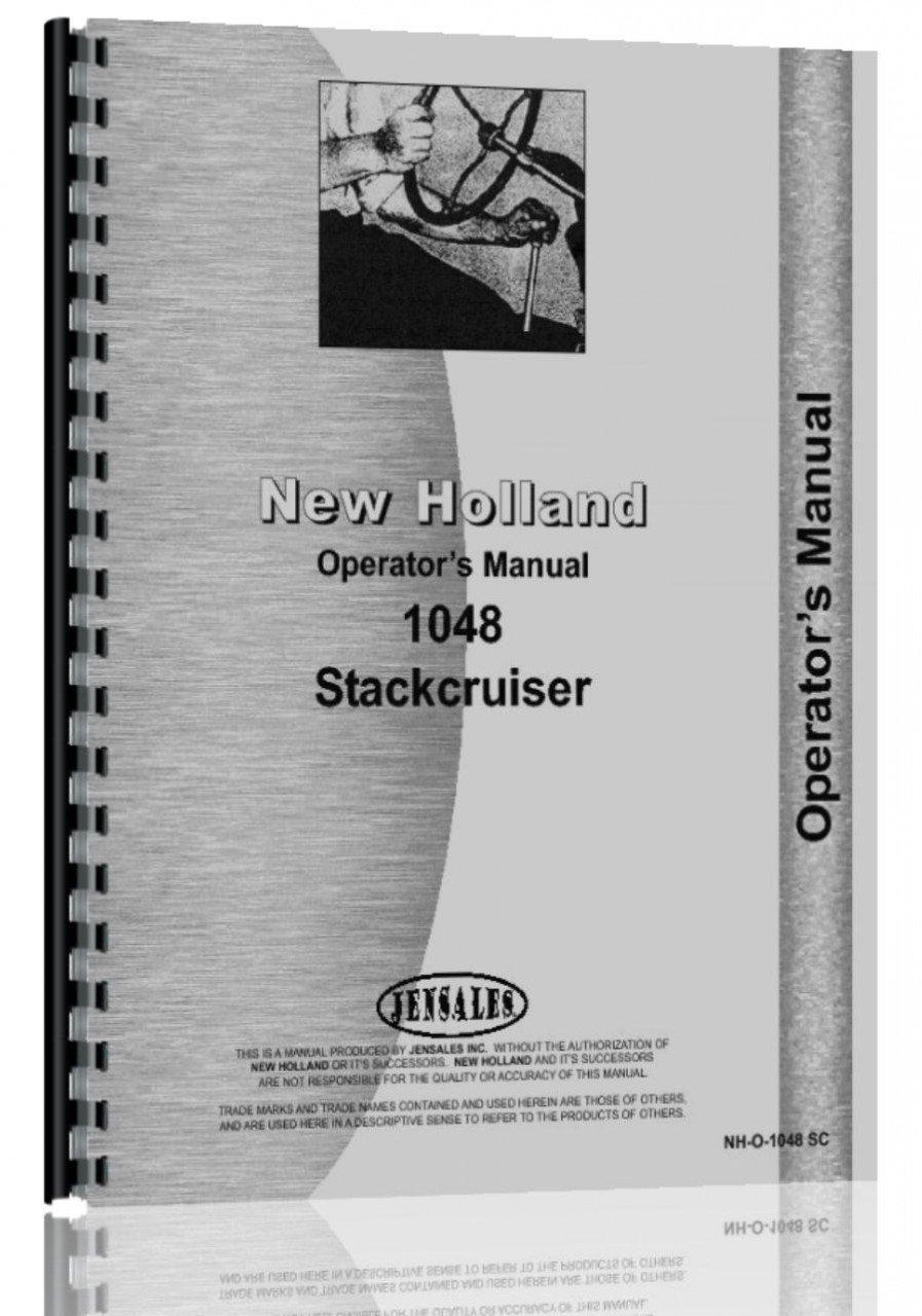 New Holland 1048 Bale Mower Operators Manual John Deere Trak Wiring Diagram Automotive