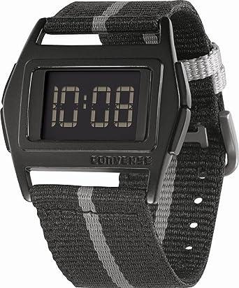 Converse VR005-002 - Reloj unisex de cuarzo, correa de textil color negro: VR5-2: Amazon.es: Relojes