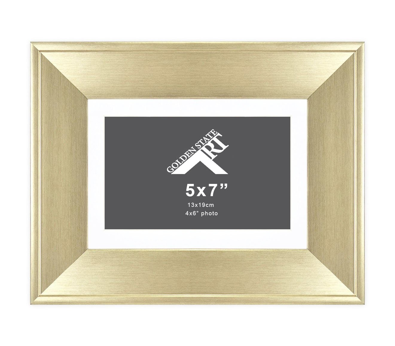 Amazon.com - Golden State Art 5x7 Frame for 4x6 Photo with White Mat ...