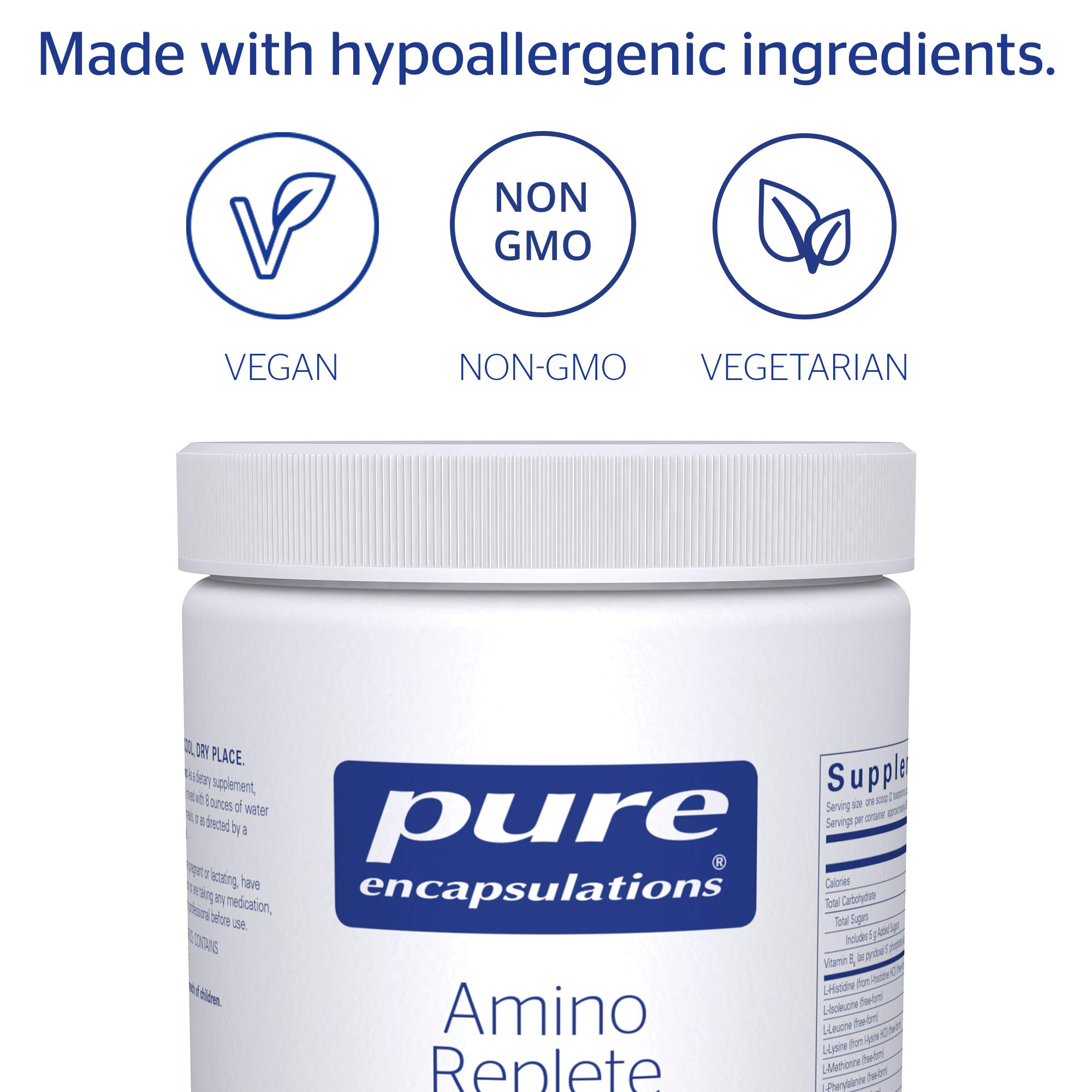 Pure Encapsulations - Amino Replete - Hypoallergenic Free-form Amino Acid Powder Supplement - 540 Grams by Pure Encapsulations (Image #4)