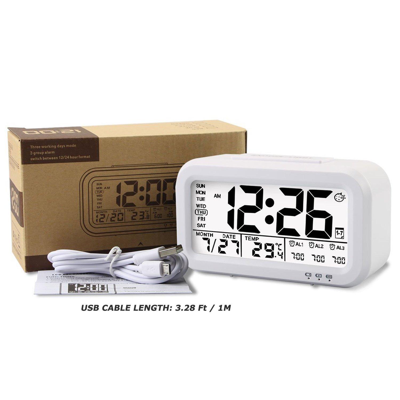 WinFong Alarm Clock, Backlight LCD Digital Alarm Clock with