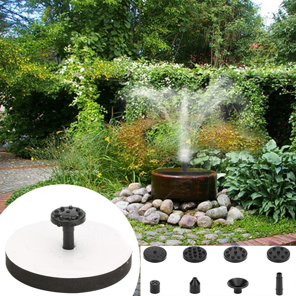 win-full Solar Fountain,Solar Fountain Pump Bird Bath 1.5W Square Solar Fountain Water Pump with Frame Outdoor Birdbath Watering Submersible Pump for Pond, Garden and Patio