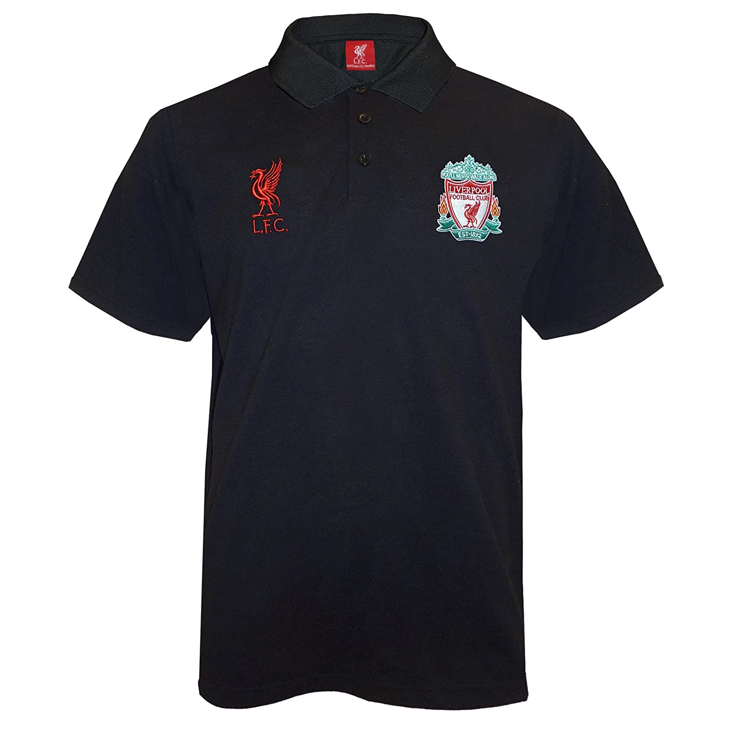 Liverpool FC Official Football Gift Mens Crest Polo Shirt