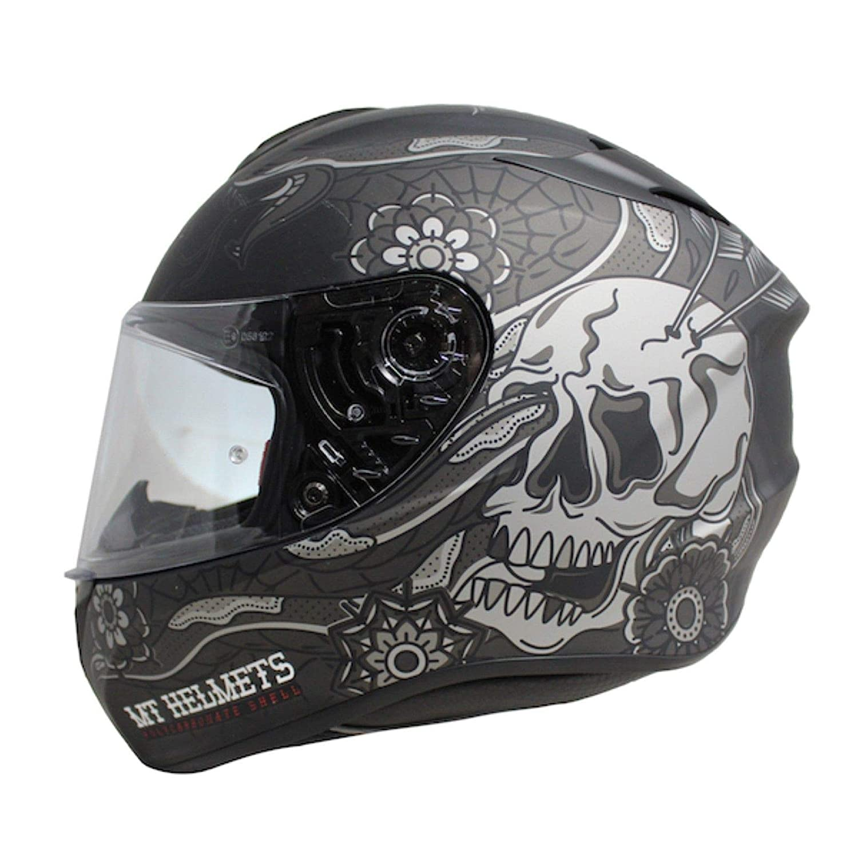 MT Targo Dagger Motorcycle Helmet Matt Black//Grey