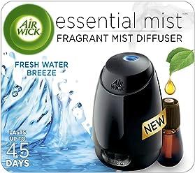 Air Wick Essential Oils Diffuser Mist Kit (Gadget + 1 Refill), Fresh Water Breeze, Air Freshener