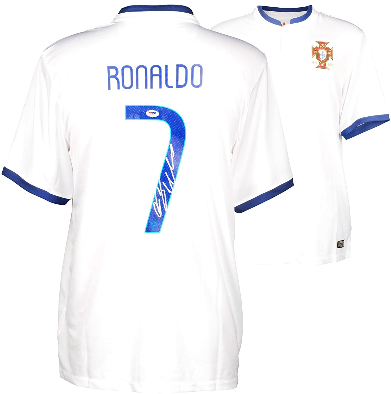 5a0bfff3266b 60%OFF Crisitano Ronaldo Portugal Autographed White Jersey - Fanatics  Authentic Certified - Autographed Soccer