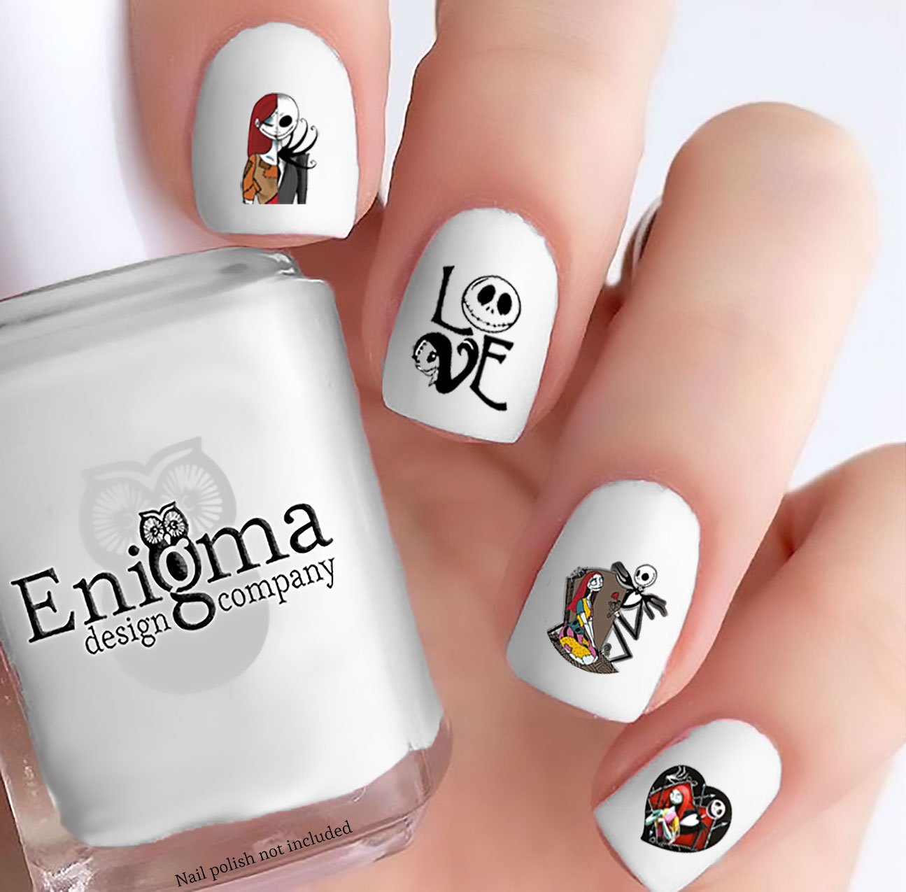 Amazon.com: The Nightmare before Christmas Nail Decals (Jack & Sally ...