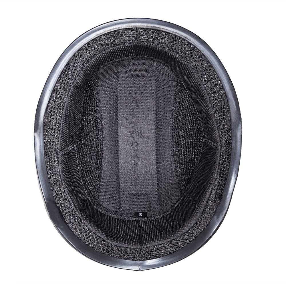 Dull Black 100/% DOT Approved Daytona Helmets Motorcycle Half Helmet Skull Cap