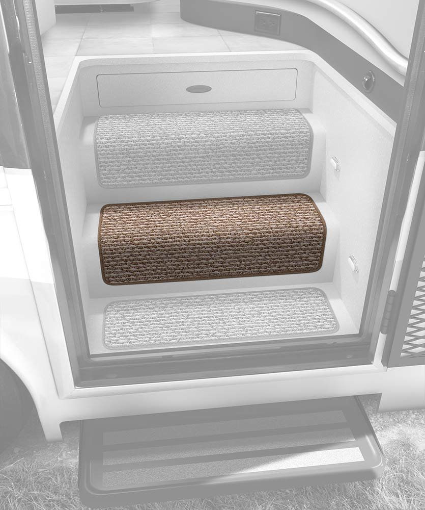 Prest-O-Fit 5-0071 Decorian Step Huggers For RV Stairs Sierra Brown 13.5 In x 23.5 In.
