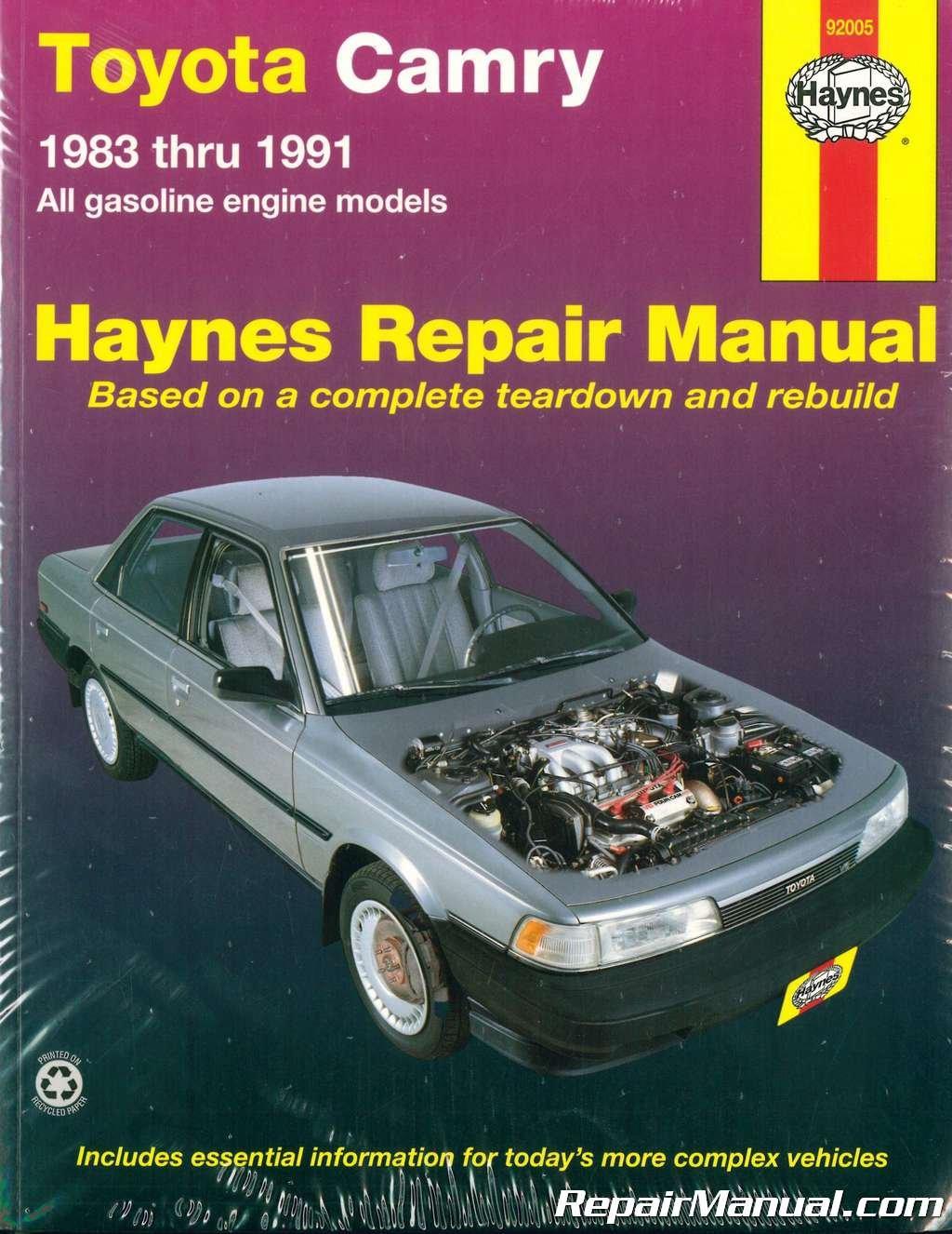 H92005 Haynes Toyota Camry 1983-1991 Auto Repair Manual: Manufacturer:  Amazon.com: Books