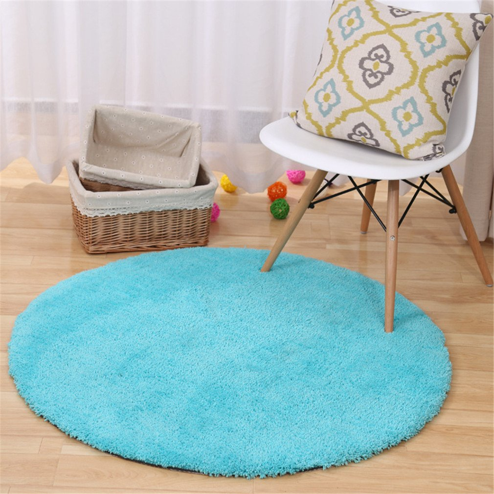 MIRUIKE Round Area Rugs for Bedroom Computer Chair Hanging Basket Absorbent Non-slip Soft